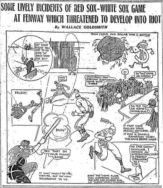 1917 -- 06-17 -- Boston Globe gamblers riot cartoon
