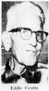PHOTO - Eddie Cicotte in his 70s - obit 1969-05-06 - Detroit Free Press