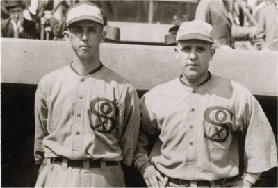 Lefty Williams and Eddie Cicotte (NATIONAL BASEBALL HALL OF FAME LIBRARY)