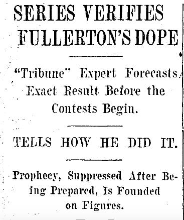 1906 -- 10-15 - Series verifies Fullertons dope - HEADLINE - ChiTrib