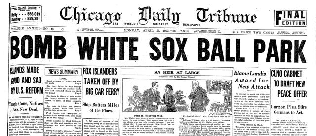 1923-04-23-Bomb-White-Sox-Park-ChiTrib-p1